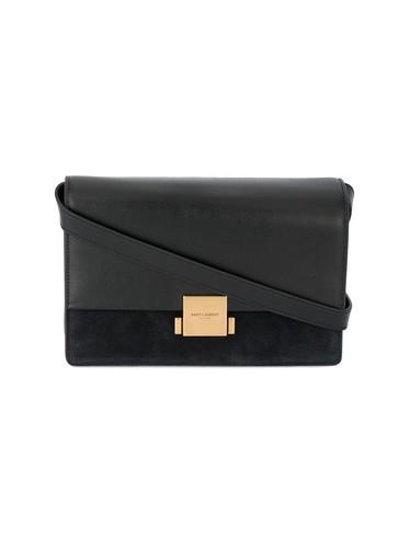 medium black leather Bellechasse shoulder bag