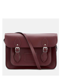 Women's 13 Inch Magnetic Satchel - Oxblood