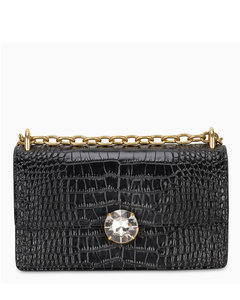 Black croco print Miu Solitaire bag