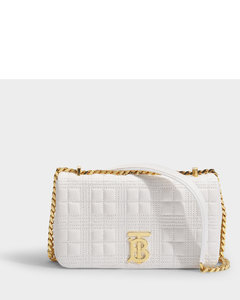 Lola Small Bag In White Quilted Lamb Leather