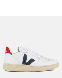 Women's V-10 Leather Trainers - Extra White/Nautico/Pekin