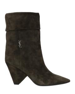 Elosie拼接感皮革长靴