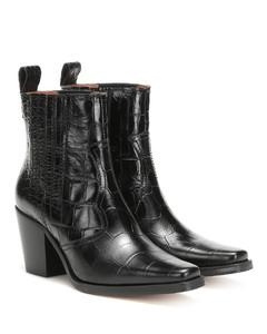 西部风皮革及踝靴