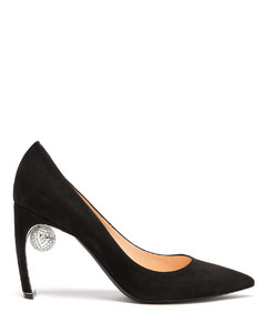 Maeva disco ball point-toe suede pumps