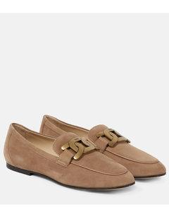 绒面革乐福鞋