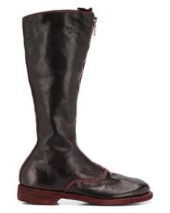 拉链高筒靴