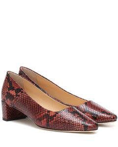 Andrea蛇纹效果皮革高跟鞋