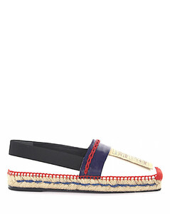 Espadrilles WAD46 leather blue white red fabric black leather authentication bast
