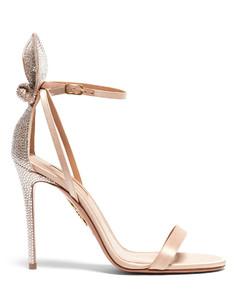 Deneuve 105 crystal-embellished satin sandals