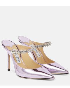 水晶缀饰羊绒混纺袜靴