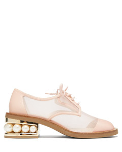 Casati pearl-heeled mesh derby shoes