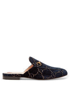 Princetown velvet backless loafers
