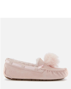 Women's Dakota Moccasin Suede Slippers - Seashell Pink
