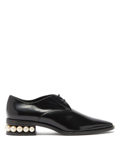 Casati pearl-heel leather derby shoes