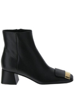 Prism point-toe polka-dot devorépumps