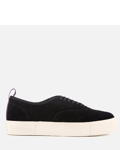 Mother Suede Low Top Trainers - Black