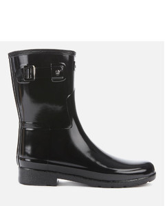 Women's Original Refined Short Gloss Wellies - Black