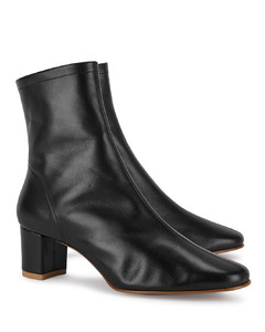 Sofia 65 black leather ankle boots