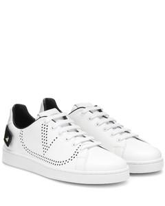 Valentino Garavani BACKNET皮革运动鞋