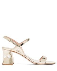 Crystal-embellished block-heel sandals