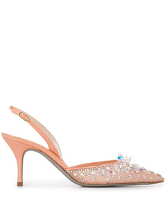Cinderella lace-embellished 75mm pumps