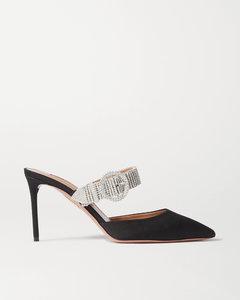 Chain Reaction水晶缀饰罗缎穆勒鞋