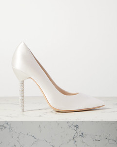 Coco水晶缀饰缎布高跟鞋