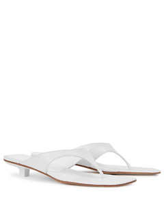 Jack 25 white leather sandals