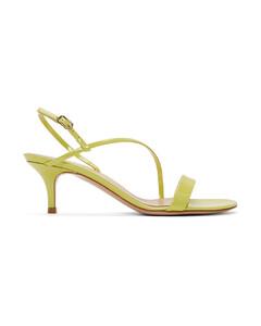 黄色Manhattan漆皮绑带凉鞋