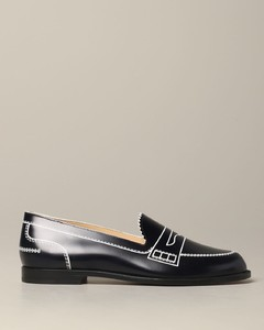 loafer in printed leather