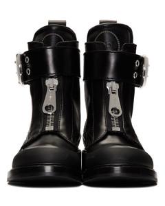 黑色Roy踝靴