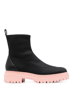 105mm Embellished Leather & Satin Sandal