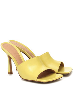 Stretch皮革凉鞋