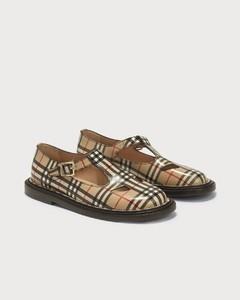 Vintage Check Leather T-bar Shoes