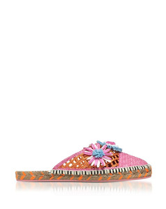 Jute And Leather Tansy Espadrille Slippers