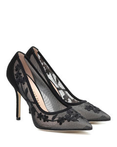 Tasha 100刺绣网布高跟鞋