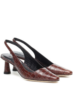 Diana鳄鱼纹皮革高跟鞋