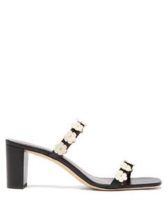 Frankie daisy-embellished leather mules