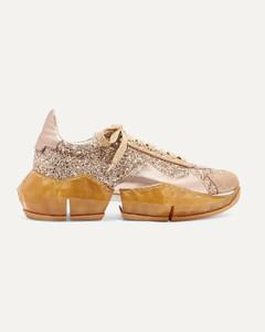 Diamond亮片金葱帆布金属感纹理皮革运动鞋
