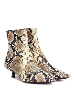 Exclusive to Mytheresa–Laura snake-effect leather ankle boots