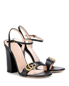 Marmont缀饰皮革凉鞋