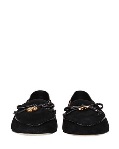 Women's plain calf leather low-top trainer in white