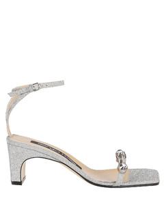 Glitter Silver Sandals