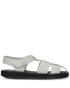 Monogram Motif Leather Sandals