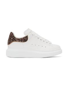 SSENSE发售白色&粉色亮片阔型运动鞋