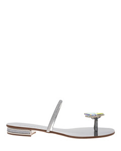 City Light Butterfly bejewelled sandals