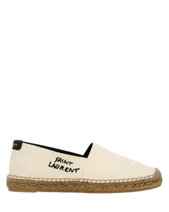 espadrilles in canvas with embroidered logo