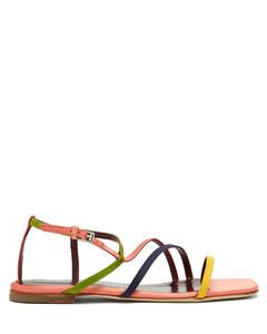 Gitane square-toe flat satin sandals