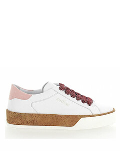 Sneaker R320 cork smooth leather rose white
