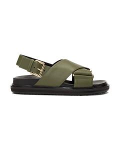 绿色Fussbett凉鞋